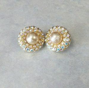 Joan Rivers Aurora Borealis Clip-On Earrings